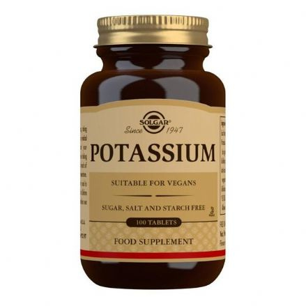Potassium 99mg x 100 Tablets; Nervous System, Muscle Function; Solgar